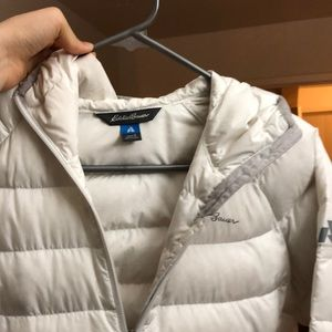 Eddy baeur puffer jacket white women